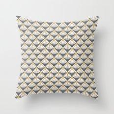 Deco flower pattern Throw Pillow
