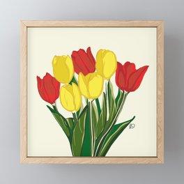 Red Tulips Framed Mini Art Print