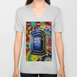 Tardis Colorfull Unisex V-Neck