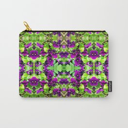 145 - A Pattern of Purple Pansies Carry-All Pouch