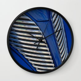 Blue and Chrome Wall Clock