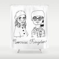 moonrise kingdom Shower Curtains featuring Moonrise Kingdom by ☿ cactei ☿