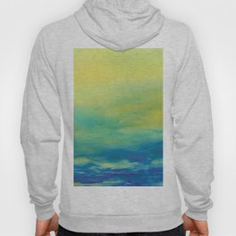 YELLOW & BLUE TOUCHING #1 #abstract #art #society6 Hoody