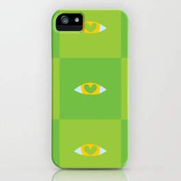 Heart Eyes - Green Shade iPhone Case