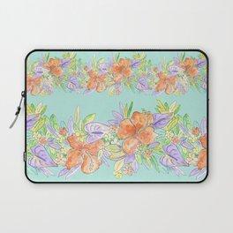 tropical hawaiian flowers aqua Laptop Sleeve