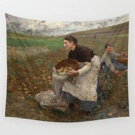 Jules Bastien Lepage - October, 1878 Wall Tapestry