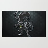 alien Area & Throw Rugs featuring Alien by 7pk2 online