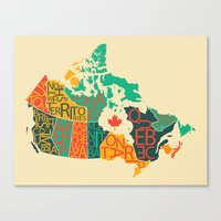 canada Canvas Prints featuring Canada by Mohit Gupta