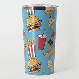 Fast-food (blue) Travel Mug