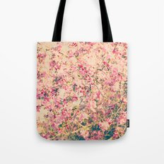 Vintage Pink Crabapple Tree Blossoms in the Sun Tote Bag