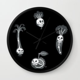X-rays vegetables (black background) Wall Clock