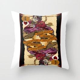 'Caterpillar' (Alice in Steampunk Series) Throw Pillow