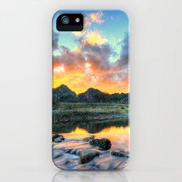 Sunset Landscape #river iPhone Case