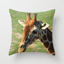 Giraffe Up Close Throw Pillow