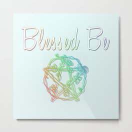 Blessed be with pentacle Metal Print