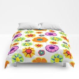 Flower Pattern-Orange Comforters