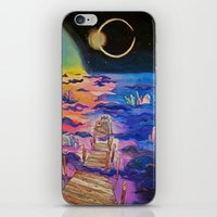 Space Clouds Crystals iPhone Skin