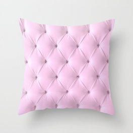 pink chesterfield Throw Pillow