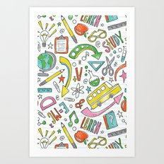 School Is Cool Art Print