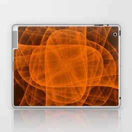 Eternal Rounded Cross in Orange Brown Laptop & iPad Skin