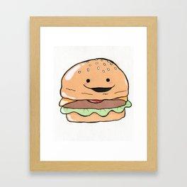 Hamburger Cutie Framed Art Print
