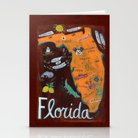 florida Stationery Cards featuring FLORIDA by Christiane Engel