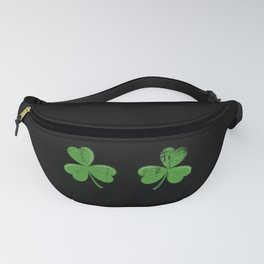 Funny Irish Shamrocks Boobs design Celtic Saint Patrick Day Fanny Pack