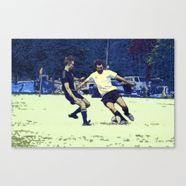The Challenge - Soccer Players Canvas Print