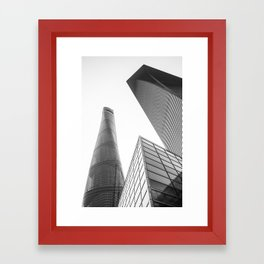 colorless shanghai 4 Framed Art Print