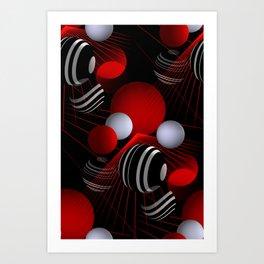 crazy lines and balls -20- Art Print