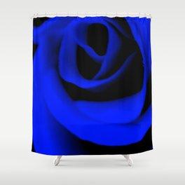 Blue Rose II Shower Curtain