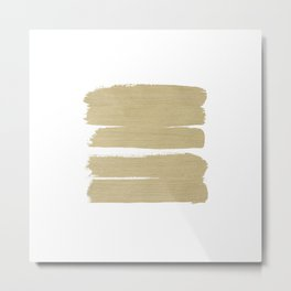 Stripes - No Comment #3 #minimal #painting #decor #art #society6 Metal Print