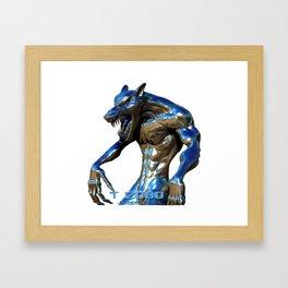 Metallic Werewolf Framed Art Print