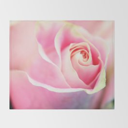 Soft Rose Throw Blanket