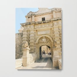 Mdina City Gates Metal Print