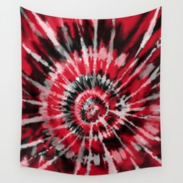 Red Tie Dye Wall Tapestry