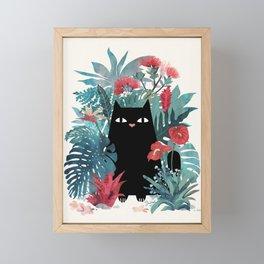 Popoki Framed Mini Art Print