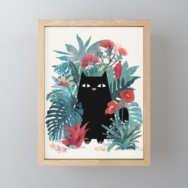Popoki Framed Mini Art Print