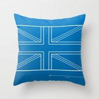 blueprint Throw Pillows featuring Blueprint Jack by Tom Schoffelen