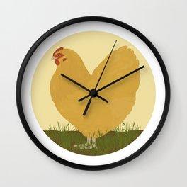 Buff Orpington Hen Wall Clock