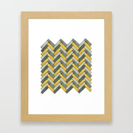 Deco Parquet Framed Art Print