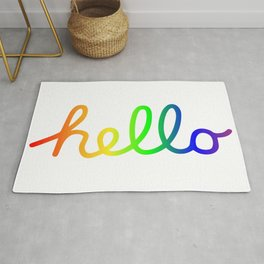 Oh Hello! Coloful Version Rug