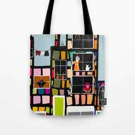 At Home In The City Tote Bag