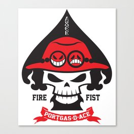 Portgas D. Ace - Fire Fist Canvas Print