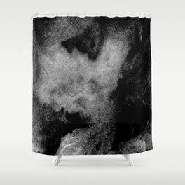 Textures (Black and White version) Shower Curtain