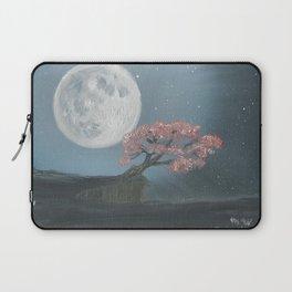 Cherry Blosom Moon Laptop Sleeve