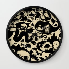 Size Chart of Sea Monsters Wall Clock