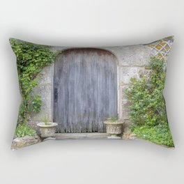 Old Rustic Barn Doorway in Brittany France Rectangular Pillow