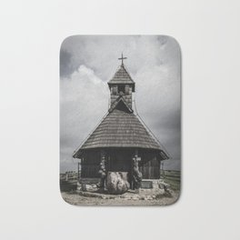 Wooden church Bath Mat