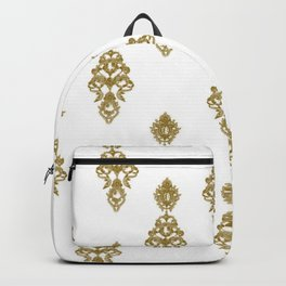The luxury golden-white pattern  Backpack